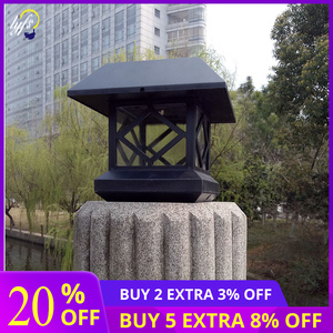 Image 1 - LED Column Headlight Outdoor Waterproof Solar Energy Lantern Light Community Villa Light Outdoor Patio Door Pillar Light Walled