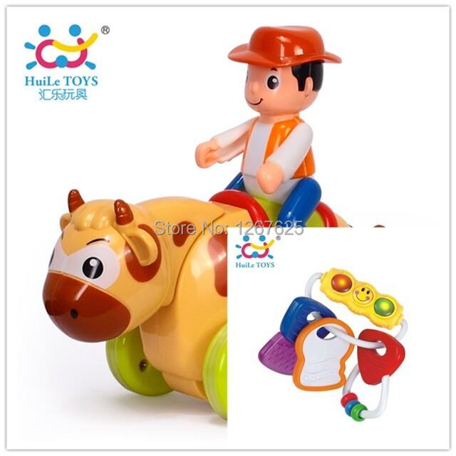 Brinquedos Chocalho do bebê e Mordedor de segurança Mordedor Chocalho de inércia Brinquedos 306E e 366D Huile Brinquedos animais para frete grátis
