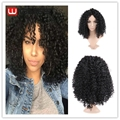 Afro Kinky Curly Wigs Natural Cheap Hair Wig for Full Head Set Synthetic Curly Wigs for Black Women African American Wigs