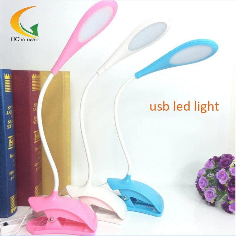 Hot Sale Flexible Clip LED Book Reading Light Study Bedside Lamp For Student Reader Book Tablet Laptop Reading