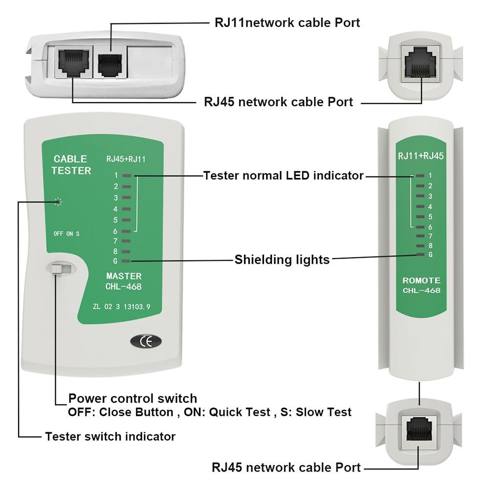 medium resolution of aliexpress com buy rj45 tester network telephone cable tester rj11 rj12 rj45 cat5 cat5e cat6 cat7 ethernet lan cable tester tools network tool from