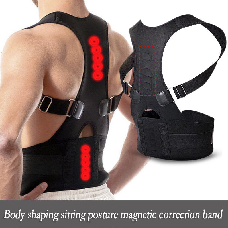 Posture Clavicle Support Corrector Magnetic Therapy Back Straight Shoulder Brace Strap Belt Correct Adjustable Male & Female 2 pieces magnet posture back shoulder corrector support brace magnetic therapy belt therapy adjustable length free shipping