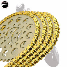 Motorcycle Drive Chain O-Ring 525 For DUCATI MONSTER S MULTISTRADA DS S SS SUPERSPORT ST3 LINKS 120 Motorbike motorcycle parts 530 120 drive chain 530 pitch heavy duty gold o ring chain 120 links for suzuki hayabusa gsxr1300 99 07