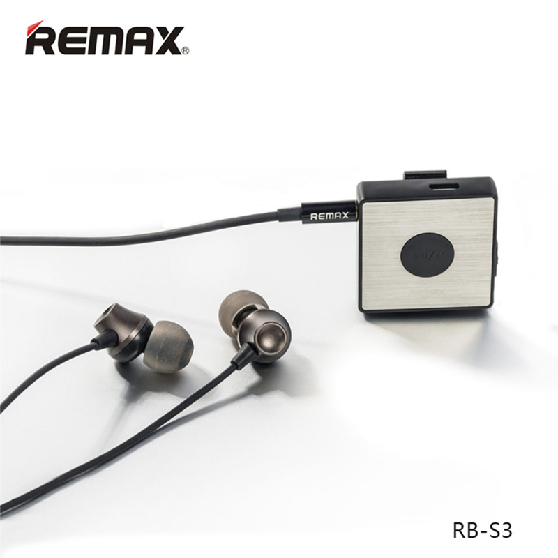 Original Remax RB-S3 Sports clip Clip-on Bluetooth 4.1 Headset Wireless Stereo Earphone Handfree with FM mic for cell phone remax rb t11c t11c mini bluetooth earphone usb car charger dock wireless car earphone bluetooth earphone for iphone7 android