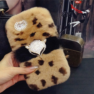Image 5 - Luxury Bling Fox head Warm Soft Beaver Rabbit Fur Hair case for samsung S10 S20 S9 S8 Plus Note 20 9 8 10 protective phone back
