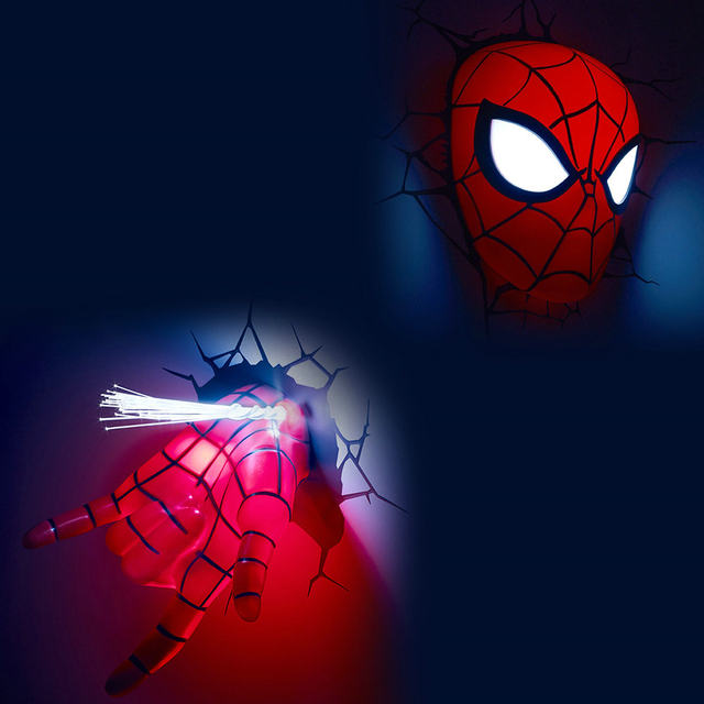 Online shop creative marvel avengers hulk hand fist spiderman night creative marvel avengers hulk hand fist spiderman night light 3d wall lamp amazing baby room decoration lampada de parede xmas mozeypictures Gallery
