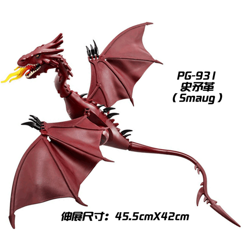 The Lord of the Rings Hobbit THE LONELY MOUNTAIN Desolation of SMAUG Dragon Figures Assemble Blocks Kids Toys Gifts pg931 the hobbit desolation of smaug 79018 the lonely mountain dol guldor battle building blocks educationa compatible with lpin