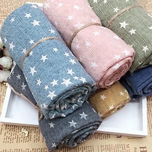 Hot Hot SellGirl's Kids Star Pentagram Warm Shawl Autumn Winter Gift S Stole Soft Scarf 7QS2