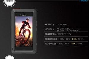 Image 2 - עבור Sony Xperia XZ1 Case אהבת מיי עפר הלם הוכחת מים עמיד מתכת שריון כיסוי טלפון עבור Sony Xperia XZ1 קומפקטי