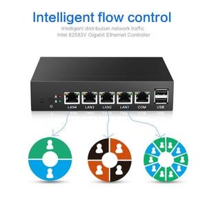 Image 4 - Mini PC Intel Celeron N2830 Routeur de Pare Feu 4 LAN Intel i211AT Gigabit Ethernet RJ45 VGA 2xusb Windows Server Courir Pfsense