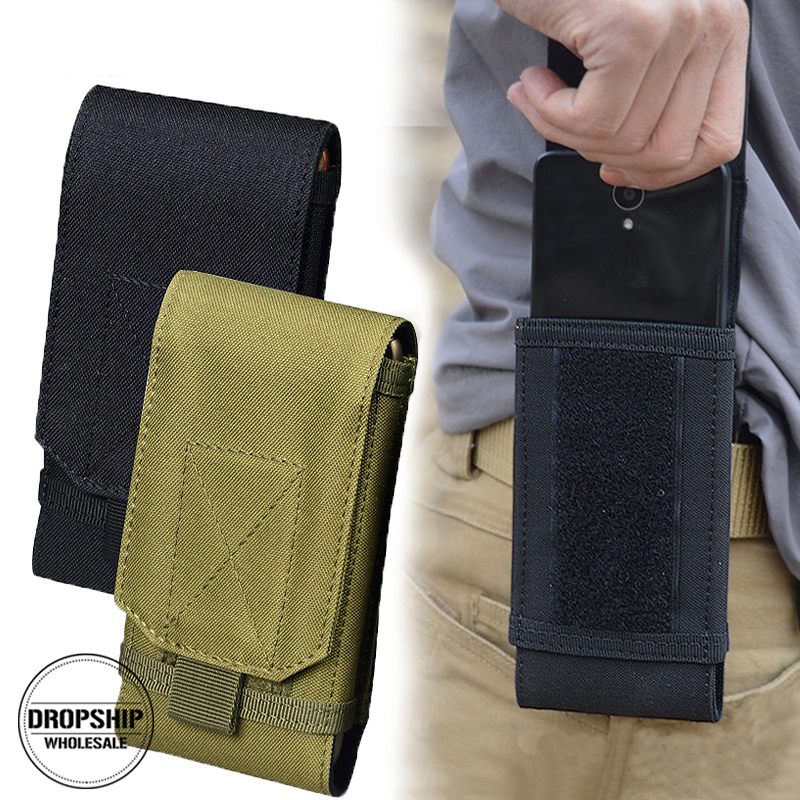 FEELTO Outdoor Camouflage Tactical Army Phone Holder Waist Belt Case Waterproof Nylon