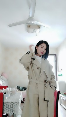 Spring And Autumn Women Fashion Brand Korea Style Waist Belt Loose Khaki Color Trench Female Casual Elegant Soft Long Coat Cloth 67