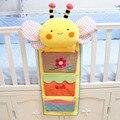 Lovely bee baby crib organizer bag baby nappy bag diaper bag bed hanging storage bag toy nursing bottle pocket sack