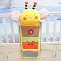 Lovely bee cuna organizador bolsa de almacenamiento de bolsa de bolsa de pañales bolsa de pañales de bebé cama colgante juguete biberón bolsillo saco