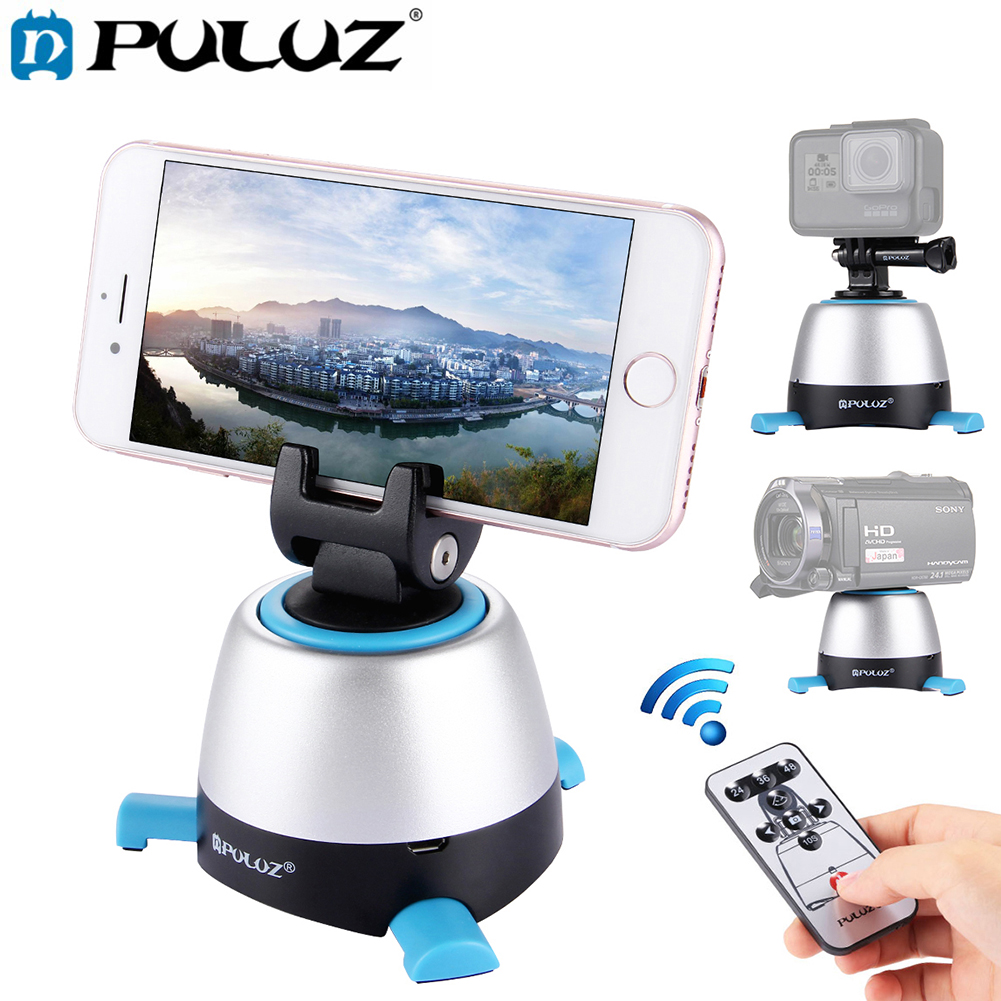 Electronic Lapse Time Rotating Pan Head 360 Degree Rotation Panoramic Tripod With Remote for Action Camera Smartphone DSLR