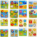 Jigsaw Puzzle Colorful Wooden Puzzles Animal Cartoon Educational Learning Toys for Baby Child Kids Games Toy Gifts Many Styles