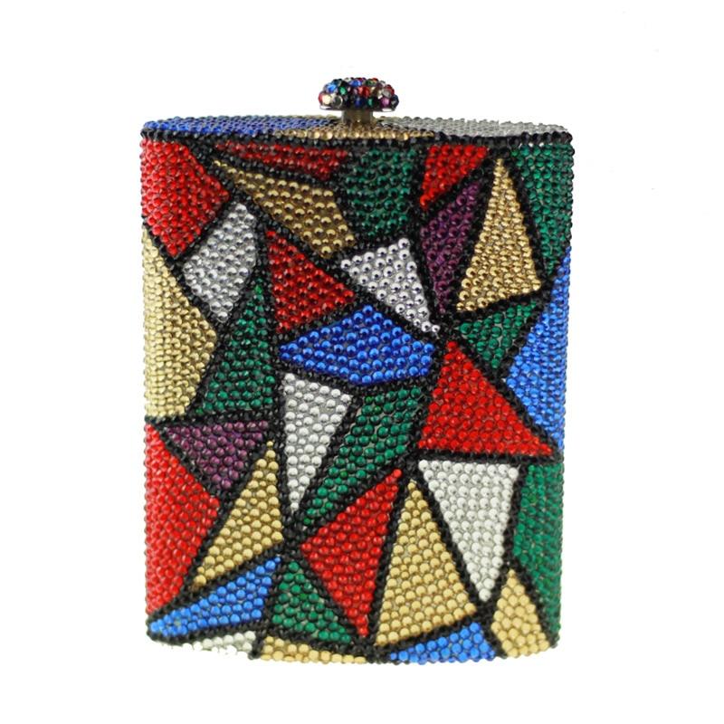 ФОТО Fashion Perfume Bottle Shape Crystal Clutch Rhinestone Women Designer Handbags High-End Crystal Clutch Evening Bags Party Purse