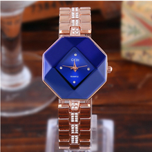 2019 Fashion Shining Exquisition Diamond-studded Steel Casual Diamond-shaped Versatile Simple Womens Quartz Watch