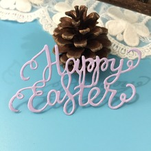 Happy Easter Day Letters Metal Cutting Dies for Scrapbooking DIY Album Embossing Folder Paper Card Maker Template Decor Stencils