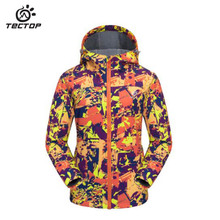 TECTOP women ski Softshell coat jacket outdoor Sport Camping hiking waterproof windproof breathable camouflage Soft shell jacket
