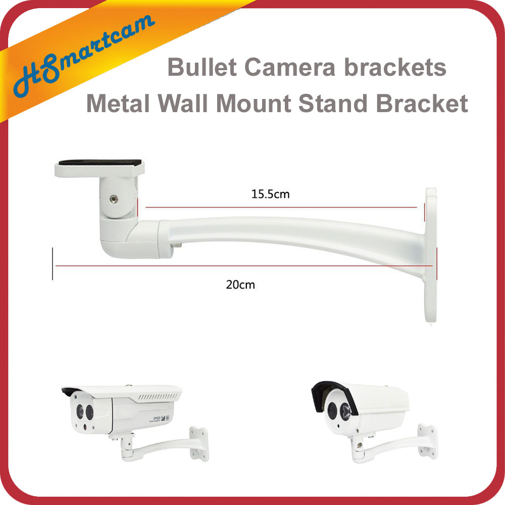 Metal Wall Mount Stand Bracket For CCTV Security Camera Bullet IP/CVI/TVI/AHD/SDI/ Camera brackets Turning degree 360 degrees hjt 360 degrees wall mount bracket metal stand for cctv dome camera security surveillance video accessories