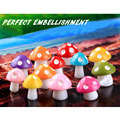 8Pcs/set Small Mushrooms Action Figures Toys Micro Landscape Decorate Resin Toys Figurine Models For Children Kids Gifts Toys