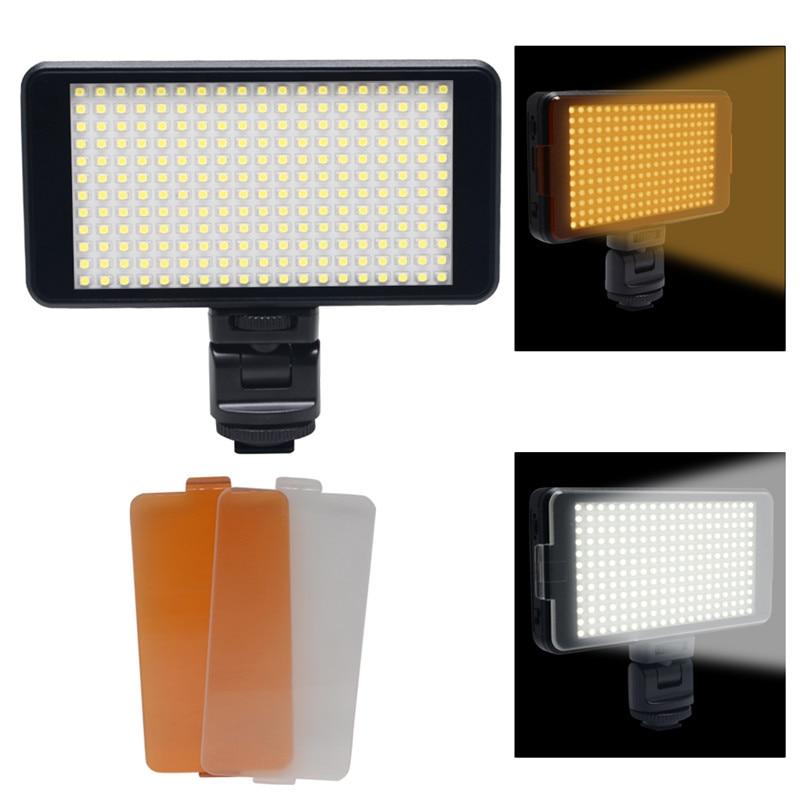 ФОТО Mcoplus LED-228 LED Video Light 22W 2500 Lux Portable for Canon Nikon DSLR Camera & charge mobile phone ipad