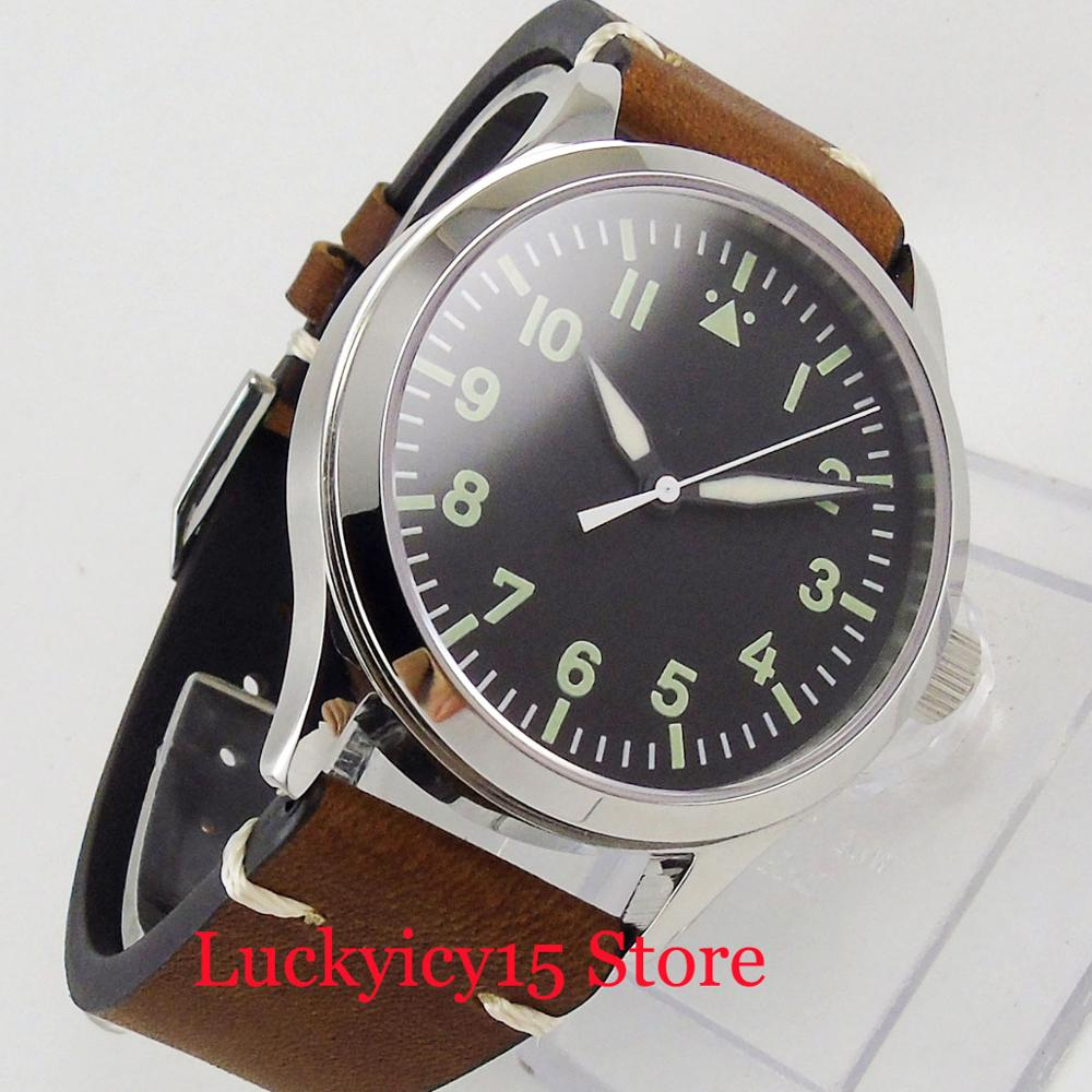 42mm Sterile Dial ST Automatic Movement Polished Case Luminous Hand Sapphire Glass(China)