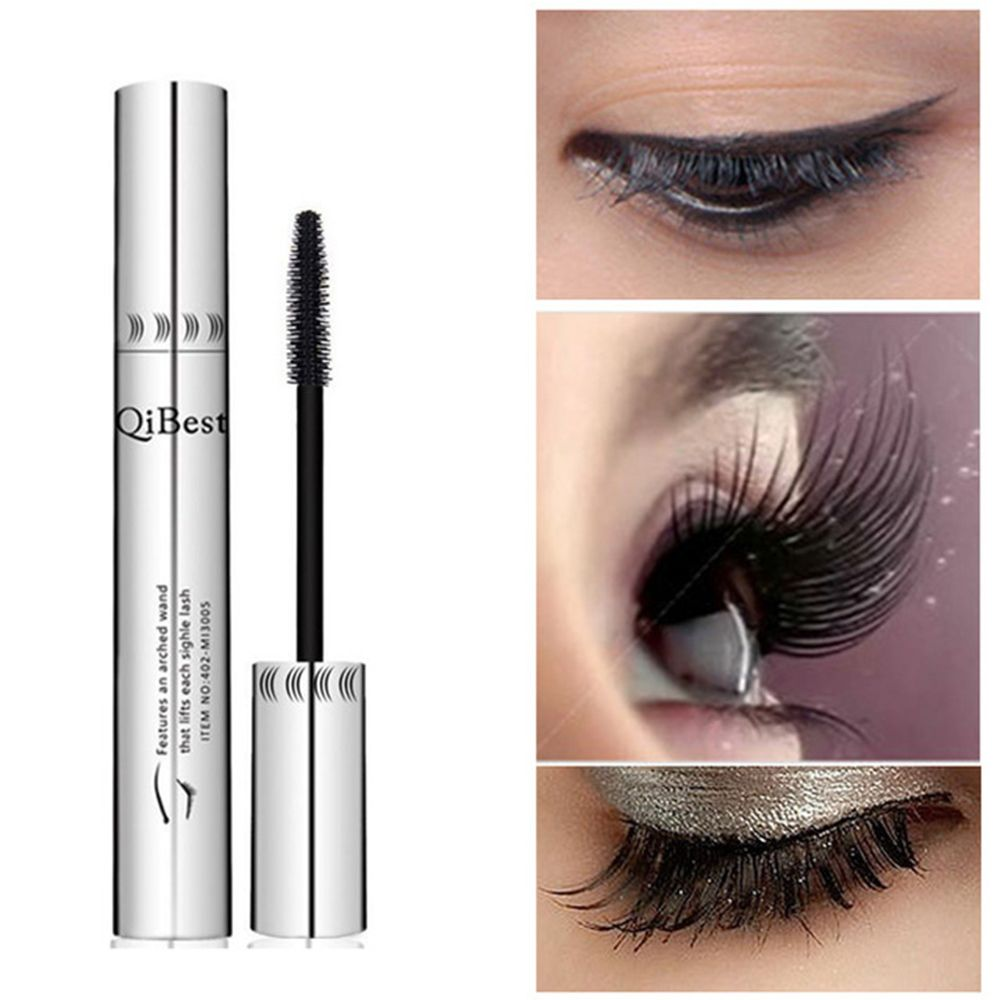 QiBest 3D Black Mascara Waterproof Lengthening Eyelashes Mascara Natural Curling Thick Mascara Professional Eyelashes Cosmetics image