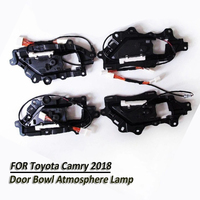 4x/Set Car LED Special Door Handle Bowl Decorative Light Interior Atmosphere Lamp For Toyota Camry 2018 Ice Blue