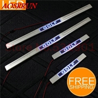 LED Stainless Steel Door Sill Scuff Plate For Volkswagen VW Golf 6 Varaint 2009 2012 Car