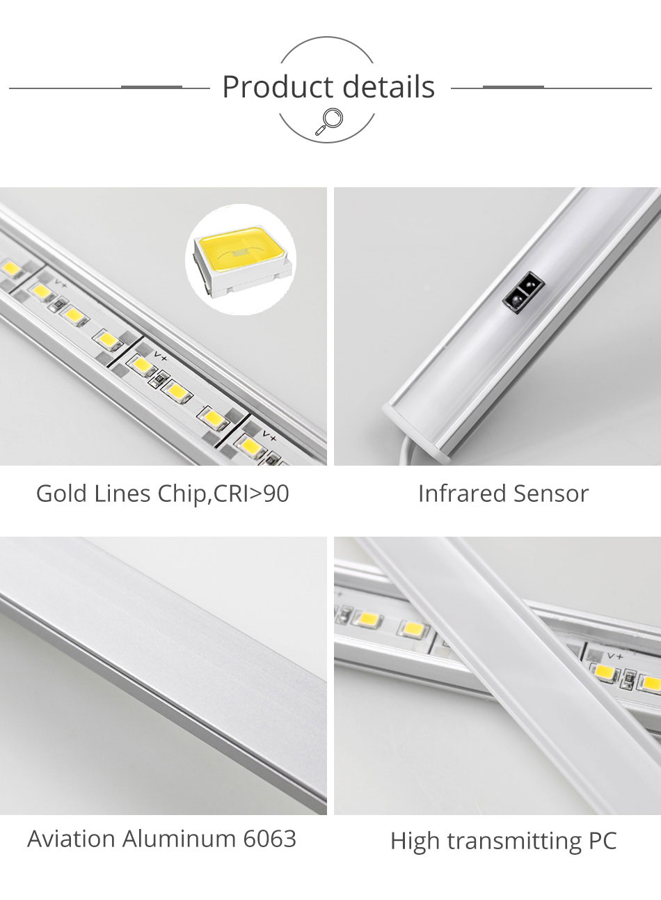 GO OCEAN Under Cabinet Lights Counter Lamp 12V 30CM 50CM Closet Lamps Lighting For Kitchen Bookcase LED Cupboard Light (12)