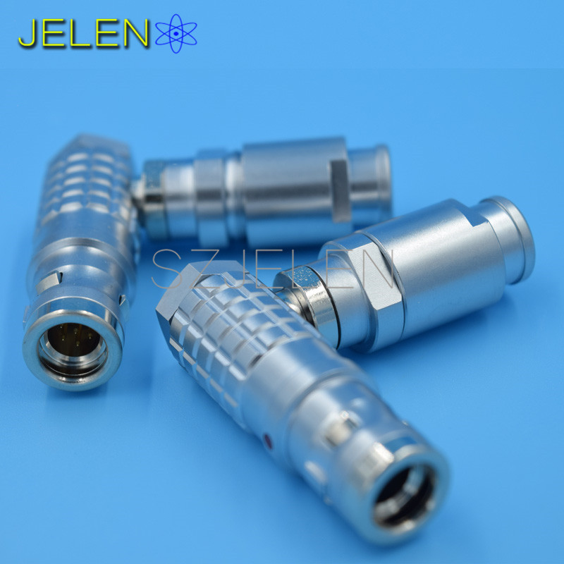 LEMO Waterproof Connector 7-pin plug , FHG.1K.307.CLAD ,IP68, 90 degree elbow plug 7 pin