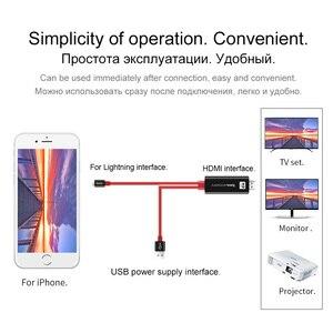 Image 3 - HOCO עבור אפל לחבר כדי HDMI כבל AV טעינת מתאם 8 פינים ל hdtv 1080 p צג מקרן עבור iPhone 7 8 iPad ממיר