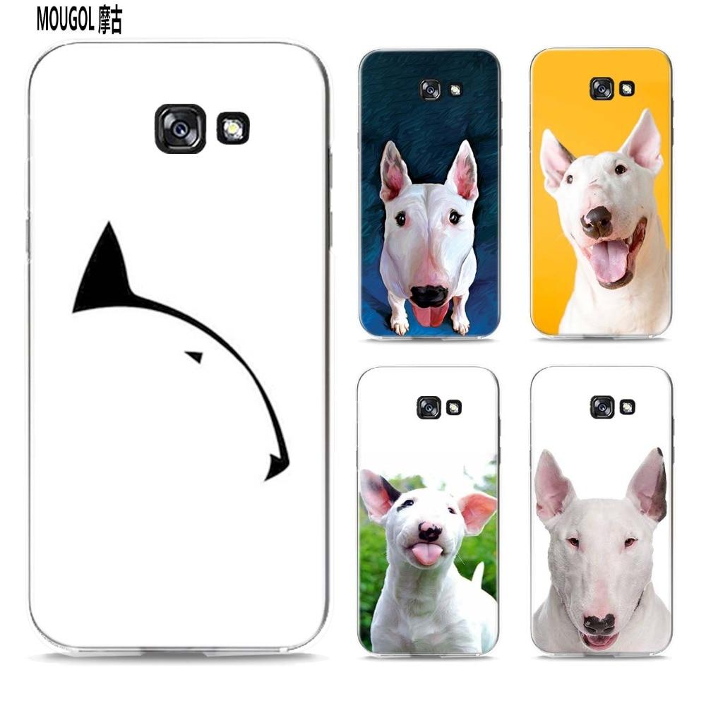 MOUGOL Bullterrier bull terrier design transparent hard case cover for Samsung Galaxy A3 A5 A7 A8 A9 2016 2017 Note 8