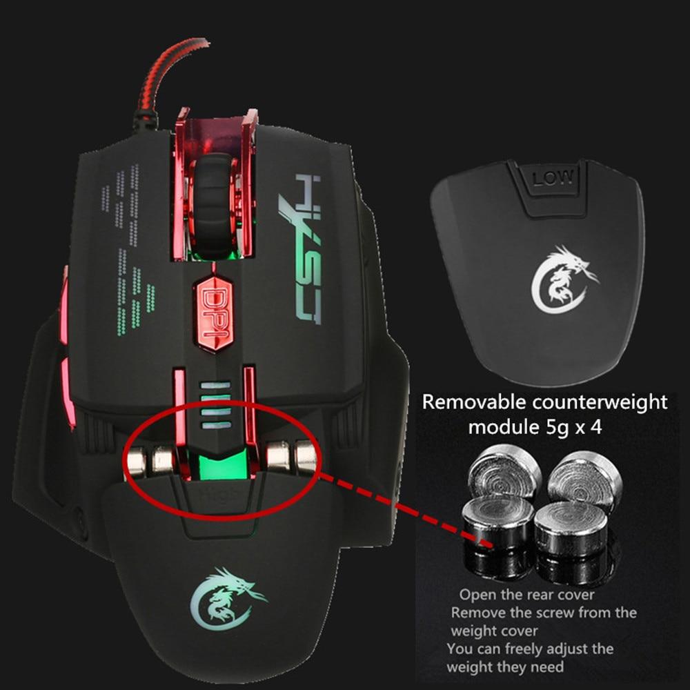 Image 4 - HXSJ X200 4000 Точек на дюйм красочный игровой Мышь 7 кнопки Home игр оптическая USB Проводная компьютерная игра Мышь-in Мыши from Компьютер и офис