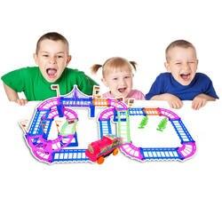 DIY гоночный трек светящаяся игрушка универсальные аксессуары для волшебного трека Обучающие игрушечный автомобильный трек гоночный