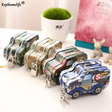 Car Shape Moneybox Money Saving Box Coin Piggy Bank Money Box with Lock Gifts for Kids B(China)
