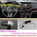 Para Mazda 6 Mazda6/Mazda Atenza 2013 ~ 2014/RCA y Original pantalla Compatible/Cámara de Visión Trasera/Copia de seguridad de Cámara de Marcha Atrás