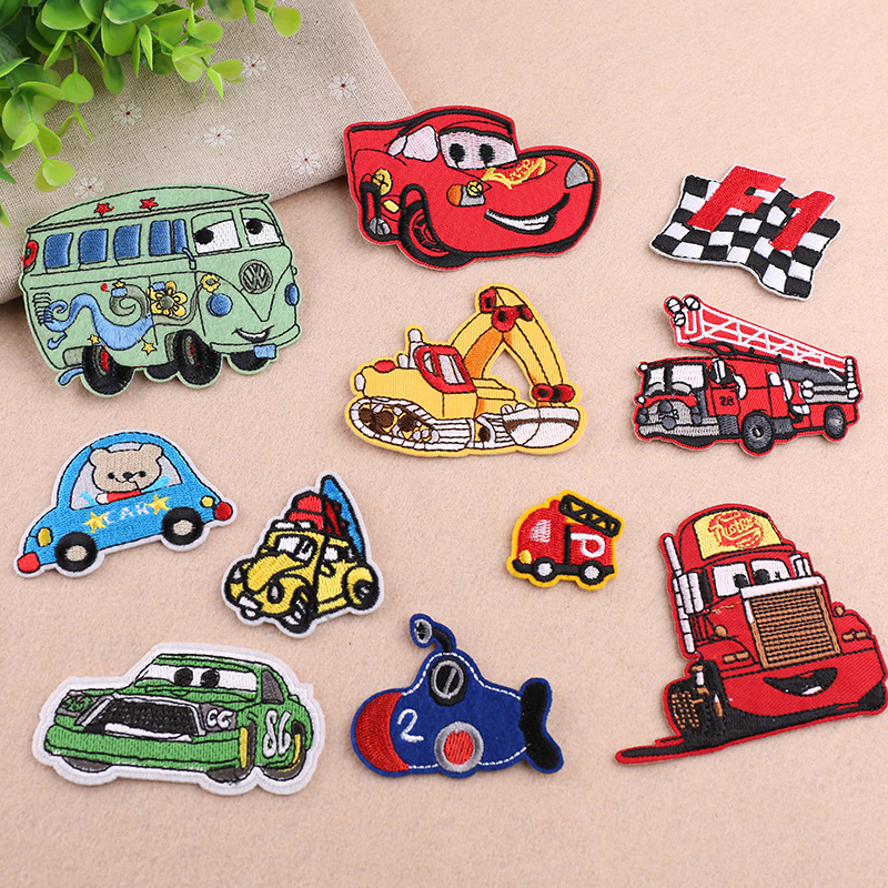 ZOTOONE 1PCS Cartoon Car Iron on Patches for Clothes