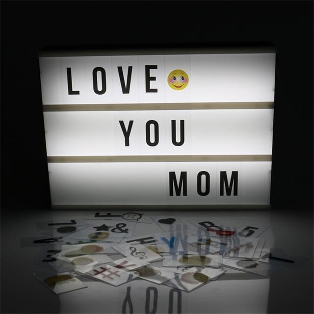 Lightbox met letters