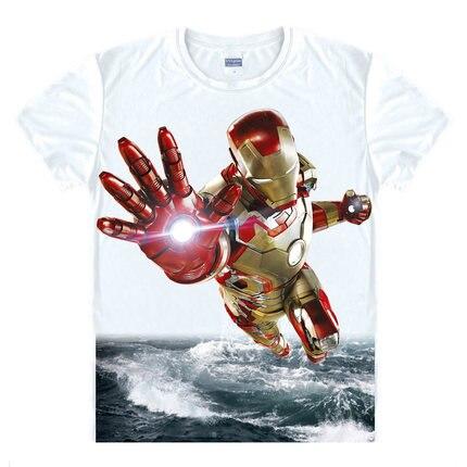 Homens Camiseta vingadores Ironman Capitão América homem de Ferro Hawkeye  Preto viúva T-shirt Marvel e26f2ec9816