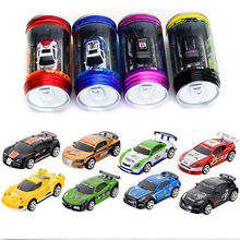 Colorful Coke Can Mini RC Radio Remote Control Micro Racing Car Child Toy Gift
