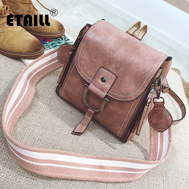 08c1fc5f1c29 Aliexpress.com : Buy ETAILL European and American Fashion Small Square Bag  Women's Handbags Shoulder Bag with Stripe Wide Strap Crossbody Bag for Gir  ...