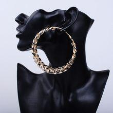 1 Pair Exaggeration Hoop Earrings Big Circle Earrings Basketball Brincos Party Loop CCB Earrings for Women UV Jewelry 80MM-in Hoop Earrings from Jewelry & Accessories on AliExpress