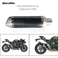 36 51mm Exhaust Muffler Modified Scooter Exhaust Pipe For HONDA CB 599 919 400 CB600 HORNET