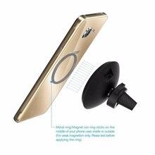 Беспроводной автомобиля Зарядное устройство W3 магнитный держатель для iPhone8 x Samsung Galaxy S6 S7 S8 плюс QI вентиляционное отверстие Стенд 5 В/1A зарядки Power Bank