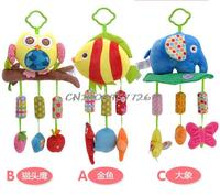 Musical Soft Plush Owl Baby Hanging Toy Stroller Car Rattle Mobile Cute Products