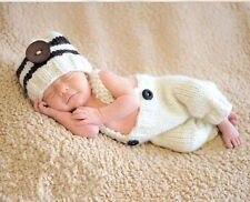 0-1 М или 3-4 М Ручной вязание Костюм Set baby Шляпы и Брюки Новорожденных Фотографии Реквизит Фотосессия