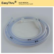 10 पीसी 100% सिलिकॉन मेडिकल पेट फीडिंग ट्यूब एंटरल फीडिंग प्रौढ़ आकार Fr12, Fr14, Fr16, Fr18 E.O. Sterized